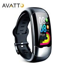Avatto ecg ppg hrv pulseira inteligente ip68 à prova dip68 água pressão arterial oxigênio monitor de freqüência cardíaca esporte rastreador