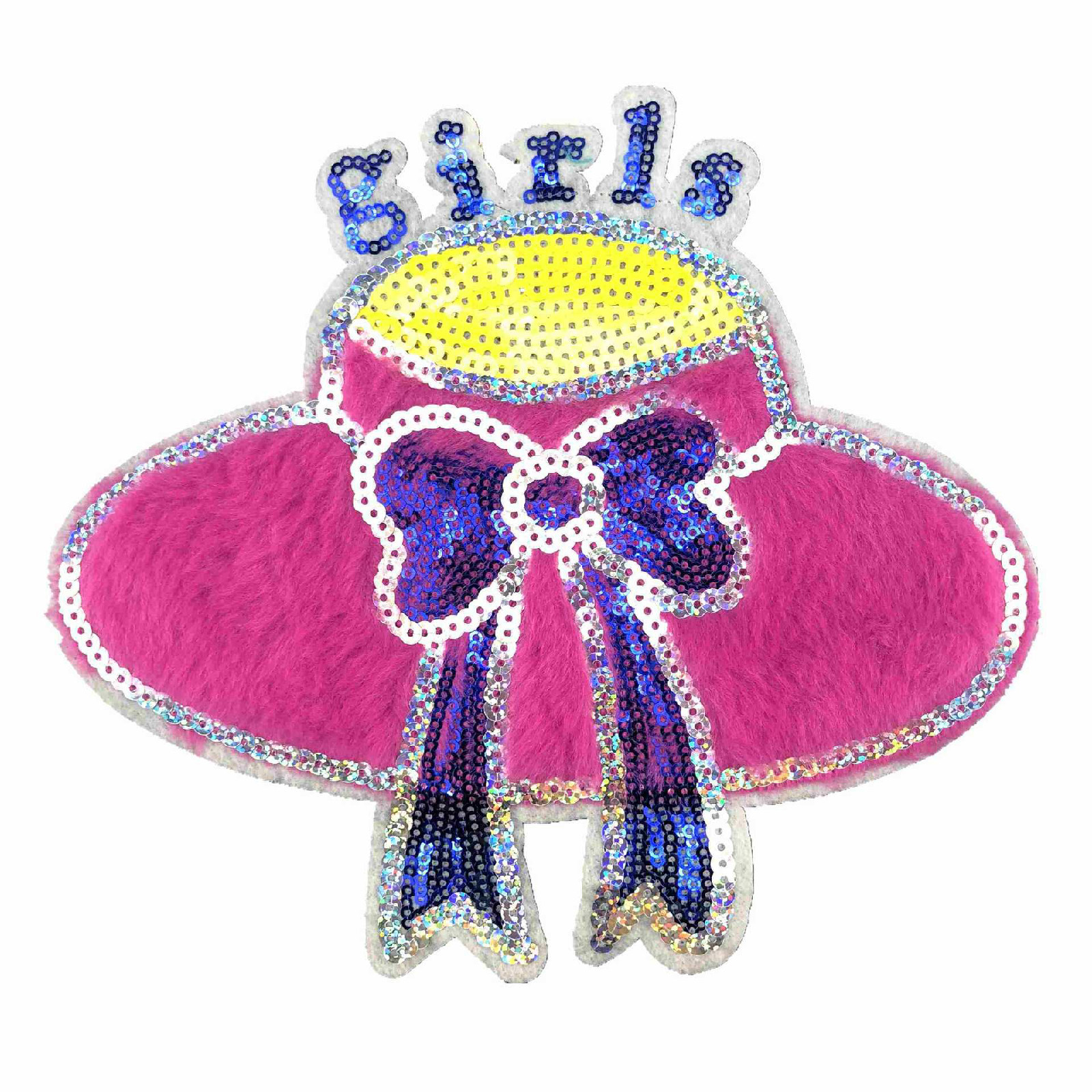 New Earth Butterfly Sequin Cloth Paste Towel Embroidery Children's Bags Patch Clothing Accessories Embroidery Wholesale