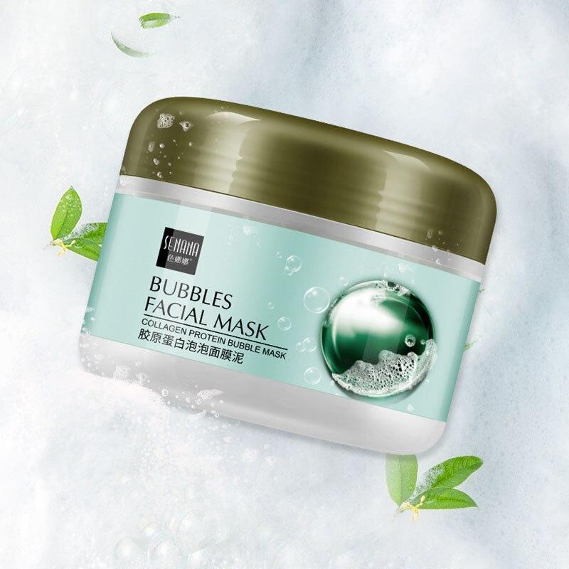 Collagen Bubble Mask Mud Moisturizing Mask Moisturizing Skin Cleansing Facial Mask Skin Care 1pcs