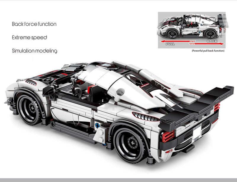 Xmas SEMBO Blok Teknik Kecepatan Mobil Koenigsegged Ageraed Blok Bangunan Pencipta Expert Mainan untuk Anak-anak Natal Hadiah