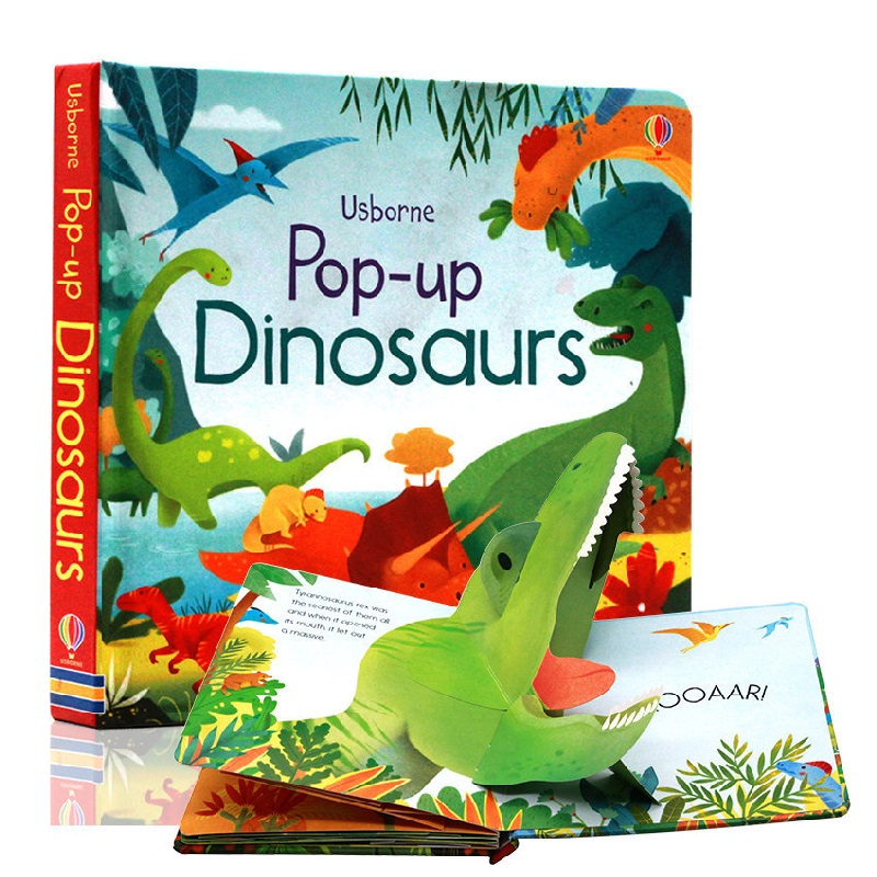 Peep Inside Pop Up Dinosaurs English Educational 3D Flap Picture Books Baby Children Reading Book