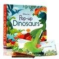 Peep Inside всплывающие динозавры английский обучающий 3d-альбом с откидной крышкой детская книга для чтения