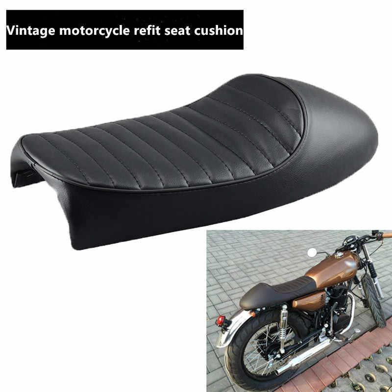 XFMT Hump Vintage Saddle Cafe Racer Cushion Seat Compatible with ...