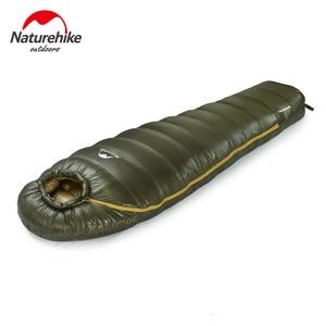 Image 2 - Naturehike 屋外で暖かい寝袋超軽量ミイラタイプ冬の屋外ハイキング保温防水寝袋