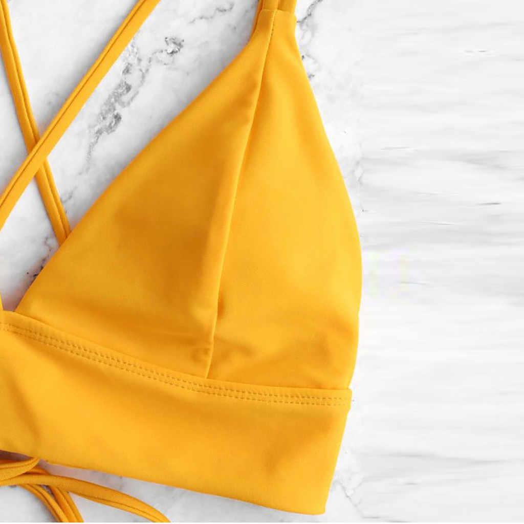 Бикини Горячая Распродажа 2020 женский купальный костюм женский комплект бикини сексуальный полосатый купальник пуш-ап раздельный купальник