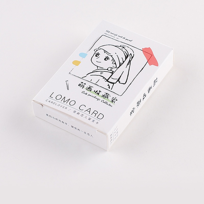 28 Sheets/Set Cute Painting Collection Lomo Card Cartoon Mini Postcard Message Card Christmas Gifts