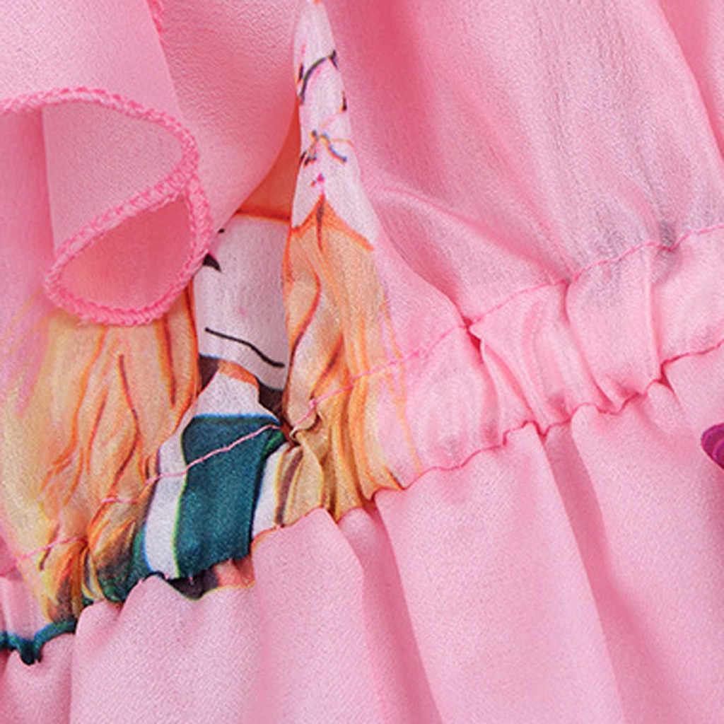 十代の子供のドレス少女漫画シフォンオフショルダーノースリーブガルス環状剥皮綿混紡 O ネックドレス vestido infantil vestido