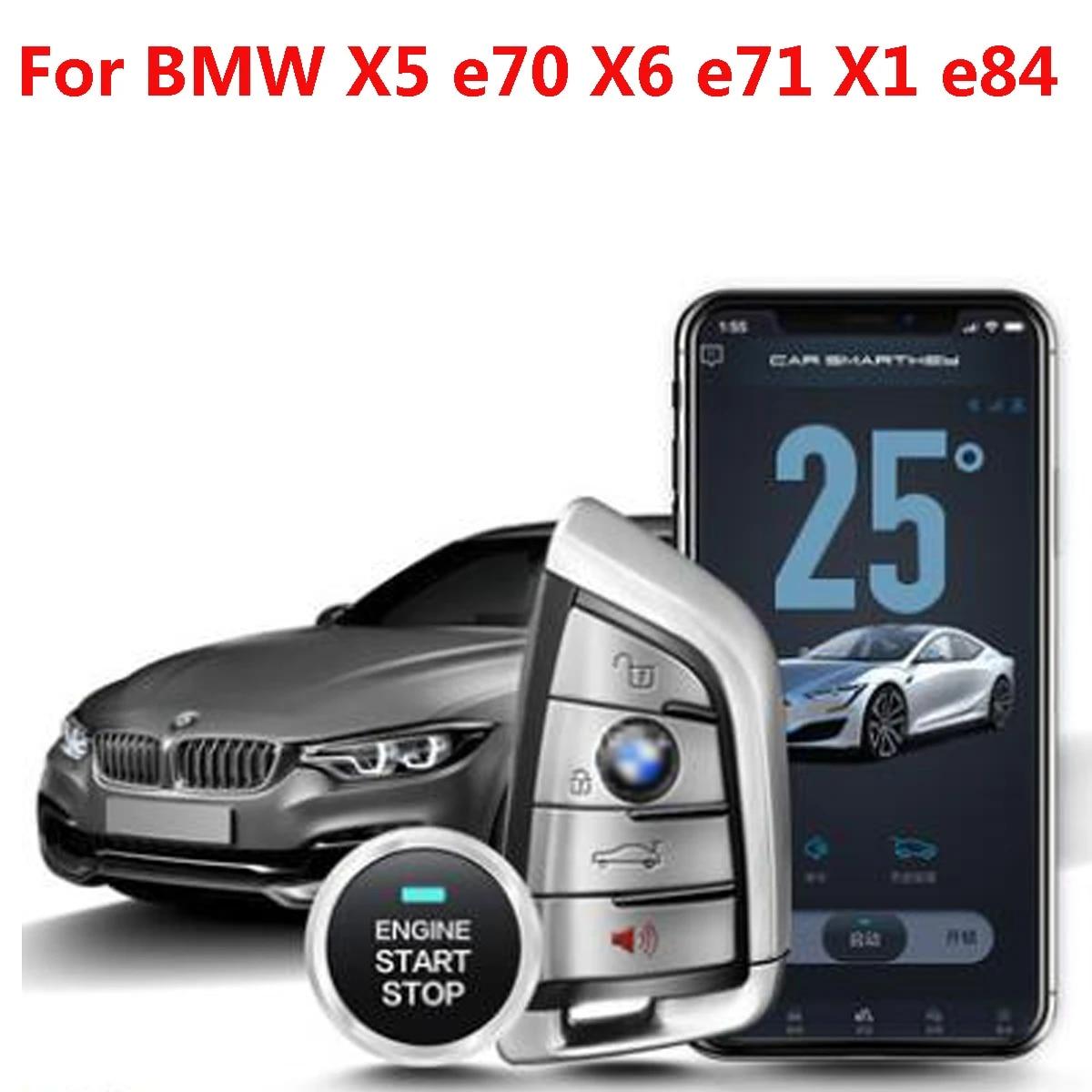 Plusobd For Bmw X5 E70 X6 E71 X1e84 Car Alarm Gps Tracking Engine Remote Start Stop System Keyless Start Keyless Go Plug Play Starter Parts Aliexpress