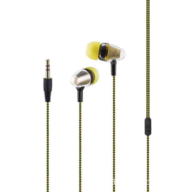 2019  New 3.5mm Jack Universal Cloth Rope Sweatproof Sport Gym Headset Stereo In-ear Earphone With 1.2Mwired With Control Button
