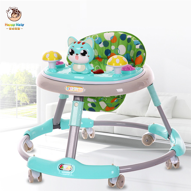 Baby Walker With Wheel 6-12 Months Baby Learn Walker Multifunction Anti Rollover Foldable Walker With Music Kids Car