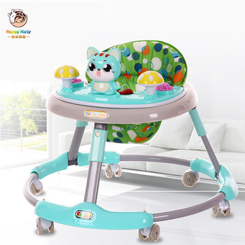 Baby Walker with Wheel 6-12 Months Baby Learn Walker Multifunction Anti Rollover Foldable Walker with Music Kids Car new design baby walker multifunctional music plate u type folding easy anti rollover safety scooter baby walkers portable carry