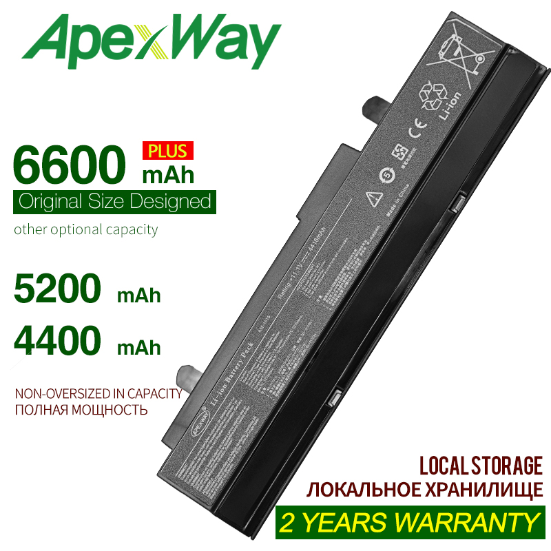 ApexWay 6 Cells Battery For Asus A31-1015 A32-1015 Eee PC 1011 1015P 1016P 1215 1215N 1215P 1215T VX6 R011 R051