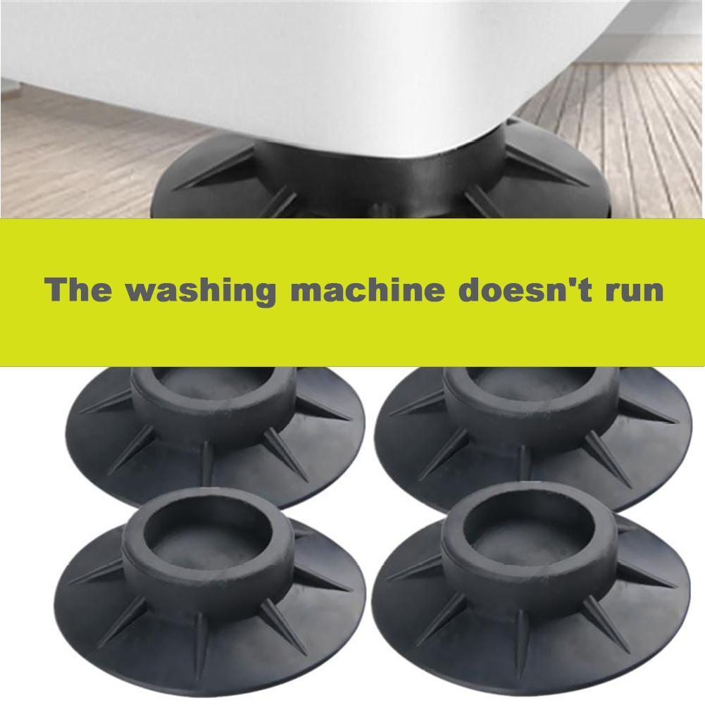 4Pcs Washing Machine Non-slip Anti-vibration Foot Pad Rubber Universal Foot Suction Anti-errand Anti-shift Cup Base Retaine D9L7