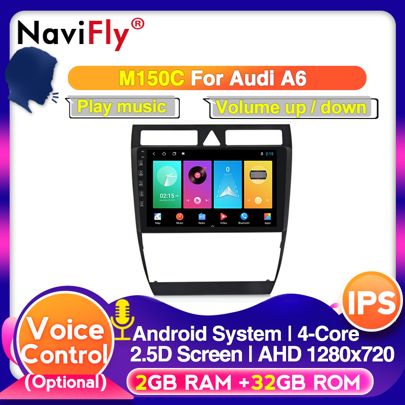 HD screen 9inch 2din 8core Android 10.0 Car DVD Player For <font><b>Audi</b></font> <font><b>A6</b></font> S6 RS6 1997-2004 With <font><b>GPS</b></font> <font><b>Navigation</b></font> IPS DSP CARPLAY WIFI 4G image