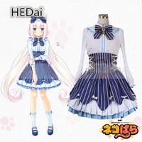Anime Cosplay Nekopara Chocolate and Vanilla Cosplay Costume Outfits Woman Dress
