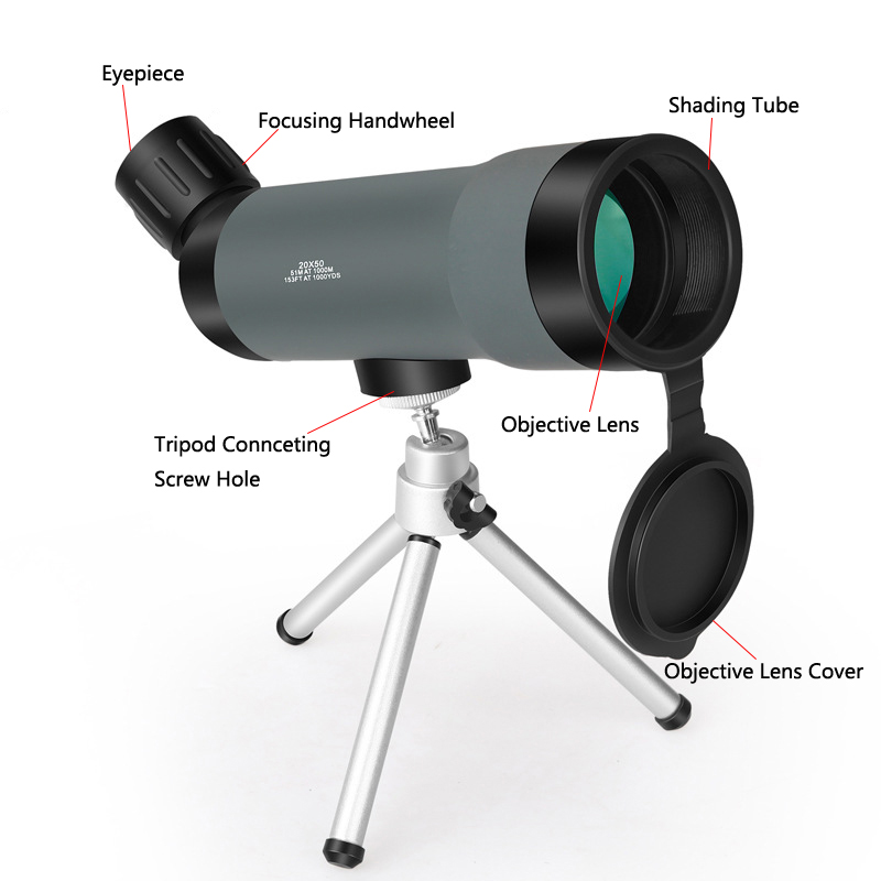 hunting telescope monucular tactical airsoft HD mini 20x50 spotting scope for outdoor sports  (2) - 副本