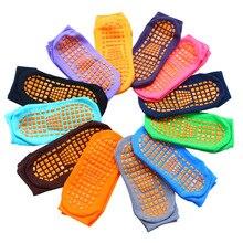 Носки с батутом для взрослых и детей; домашние спортивные носки из ПВХ с резиновыми точками; нескользящие носки-тапочки; женские хлопковые носки для йоги; массаж ног