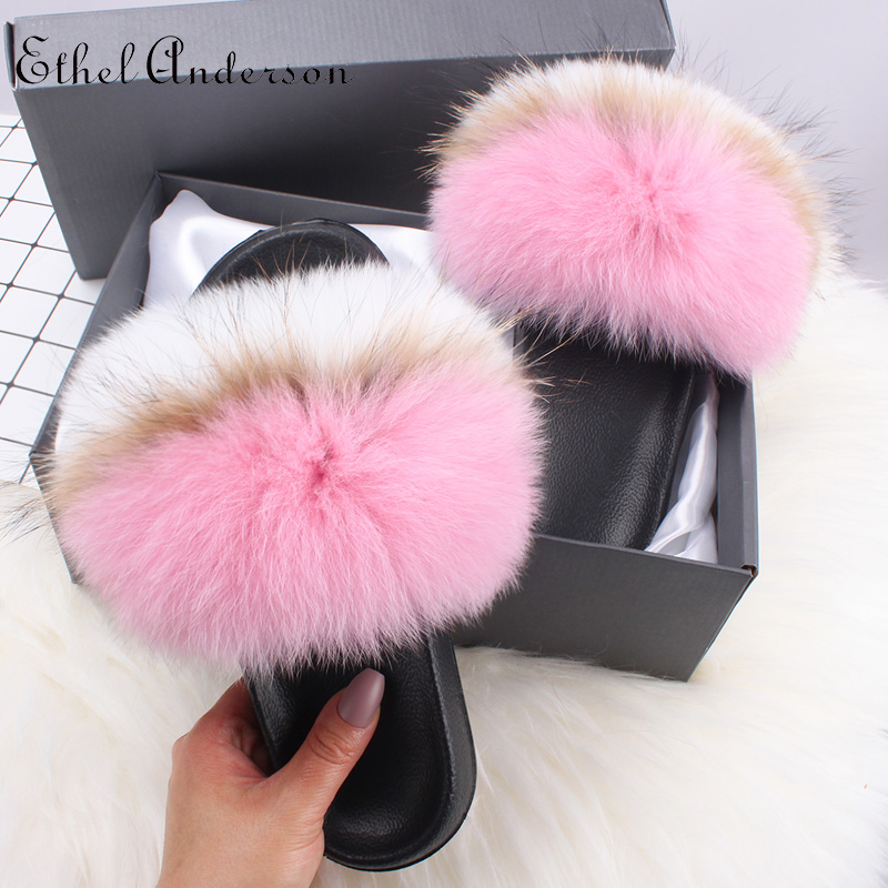 Pink White Fox Fur