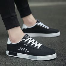 Sneakers Shoes Men's Fashion Summer Black Male Spring Low-Top Brand