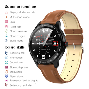 L7 Bluetooth Smart Watch Men Women ECG+PPG Watches Heart Rate Blood Pressure Monitor IP68 Waterproof Smart Bracelet Android IOS