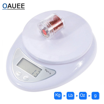 Oauee Digital Scale 5KG 1KG Electronic Mini Pocket Scale 1g 0.1g Precision Steelyard for Kitchen Food Balance Scales
