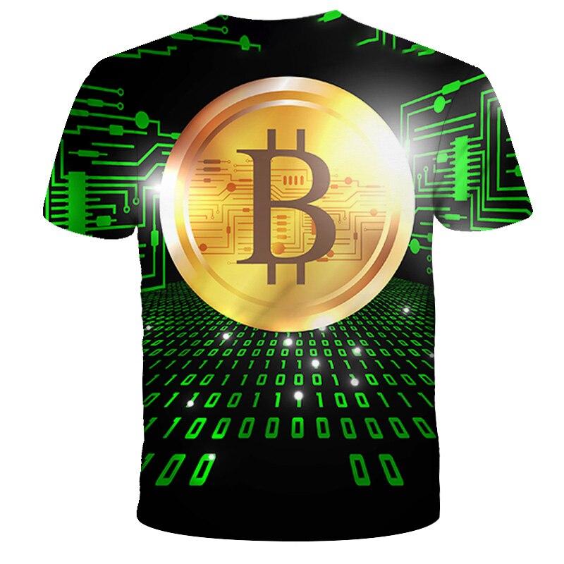 2021 kids t-shirt trend 3D printed t-shirts boys girls fashion short sleeve BTC tshirts Bitcoin Child t-shir DIY 4T-14T 4