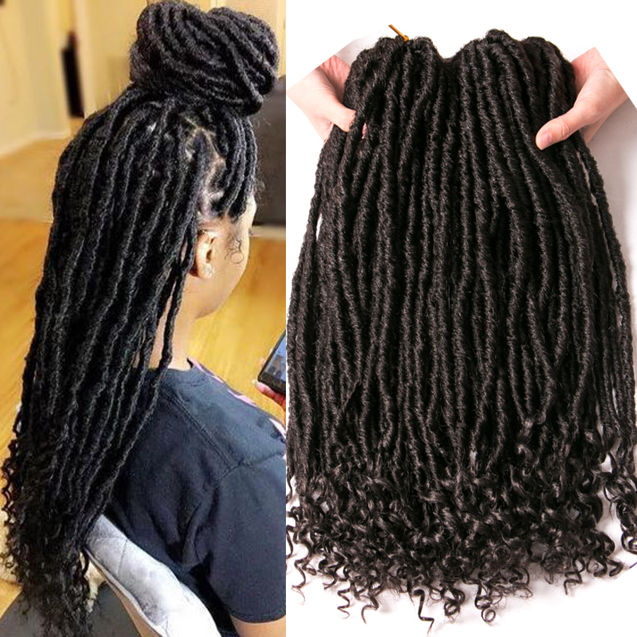 Focs Locs Curly Crochet Faux braids Hair Extensions 18 inch 20 strands/pcs Synthetic hair Dreads Hairstyle Ombre Crochet Braids