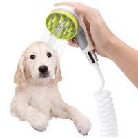 Pet bath sprayer scrubber feeding dog bath shower sprayer accessories pet bathing tools bath supplies brush head metal faucet st