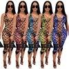 2021 Fashion Bikini Set And Matching Cover Dress Womens Sleeveless Hollow Out Laced Beach Dress 3 Pieces Outfits Beachwear S-XL 5