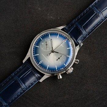 Pilot Watch men mechanical chronograph luminous new 2020 sugess black ST1901 movement crystal glass cover Antique wristwatches 2