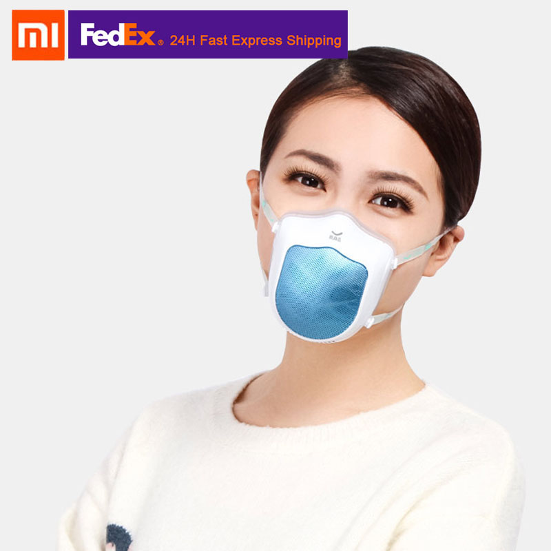 New Xiaomi Mijia Q5S Electric Face Cover Silicone Anti-haze Sterilizing Air Supply Dustproof Filter Elastic Band Portable