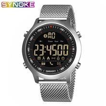 SYNOKE Smart Watch Waterproof IP68 5ATM Message Reminder Ultra-long Standby Xwatch Chronograph Sport Smartwatch Gift for men цены онлайн