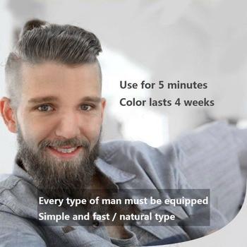 5pcs Beard Blackening Shampoo Natural Without Stimulation Dyed Beard Shampoo Beard Care Q1 5