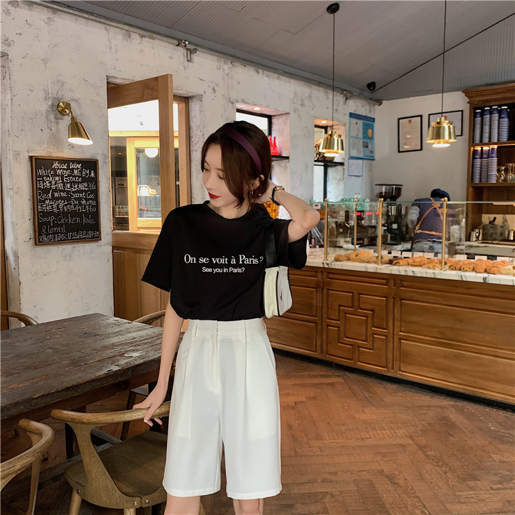 H0d0d28ed090a4a64ab0fdba5f71e4ba0N - Summer High Waist Wide Leg Loose Solid Shorts