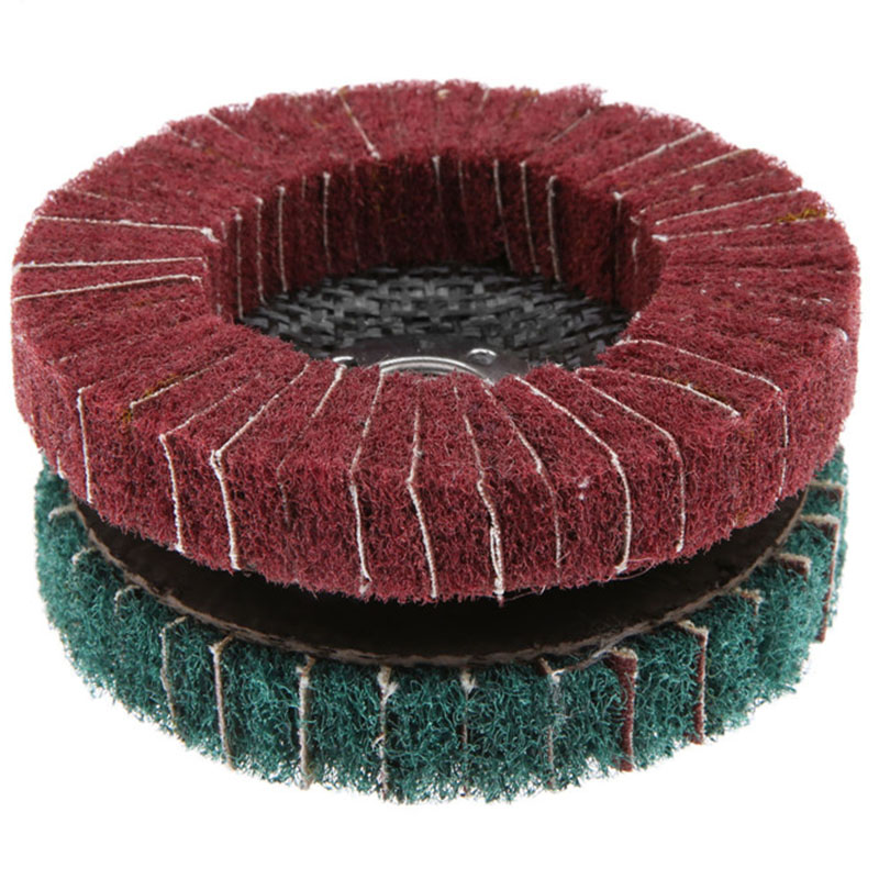 Green 320Grit Grinding Polishing Wire Wheel For Angle Grinder Abrasive Buffing