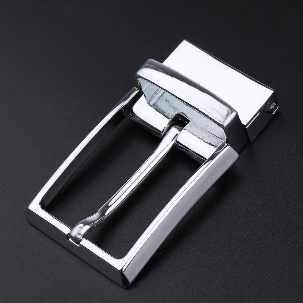 2pcs Men's Single Prong Rectangular Belt Buckle Pin Buckle Replacement 33mm  Solid Belt Buckles