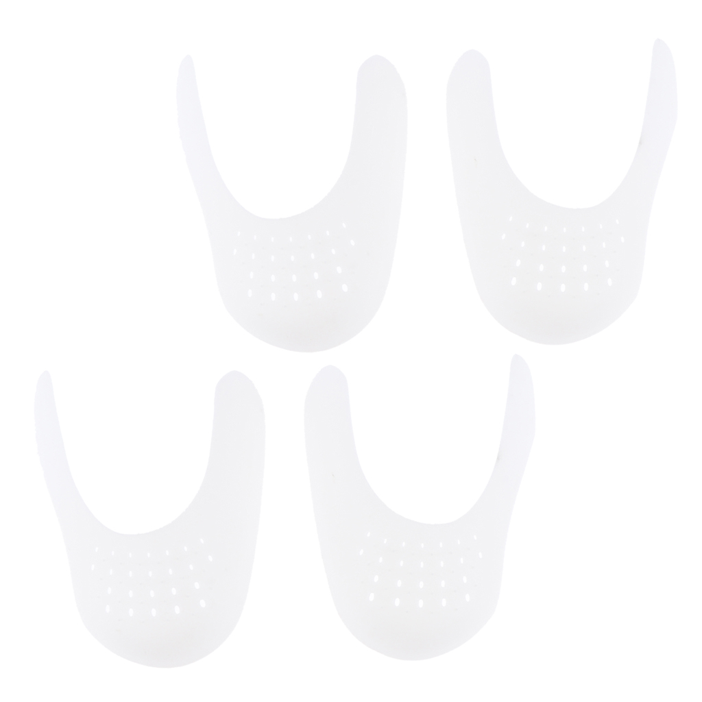 2 Pairs Men/Women Shoe Toe Box Protector Against Cracks, Toebox Crease Preventers