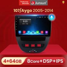 Junsun V1 pro 2G + 32G Android 10 para PEUGEOT 107 Citroen C1 Toyota Aygo 2005 - 2014 auto Radio Multimedia reproductor de vídeo dvd GPS
