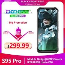 """Doogee S95プロモジュラー頑丈な携帯電話IP68/IP69Kスマートフォン6.3 """"ディスプレイエリオP90オクタコア48MPトリプルカメラ8ギガバイト128ギガバイト"""
