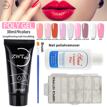 ZWTale Pink Nude Clear Nail Quick Building Poly Gel Set 30ml Jelly Builder Finger Extension UV Lacquer Polygel