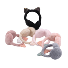 Winter Earmuffs Headwear Hang-Ear-Cover Cold-Ear-Warmer Ear-Protection Fold Cartoon Fur