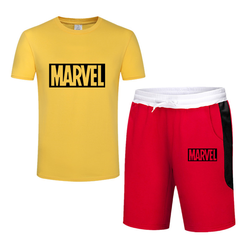 Hot Sale Men 39 s Sets T Shirts Shorts Summer Two Pieces Sets Casual Tracksuit Male 2019 Casual Tshirt Gyms Fitness Shorts men in Men 39 s Sets from Men 39 s Clothing