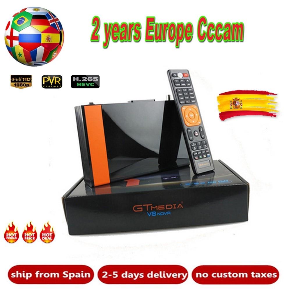 GTMedia V8 Nova Full HD DVB-S2 Satellite Receiver 2 Year Europe Cline 6 Line Same Freesat V9 Super Upgrade From Freesat V8 Super