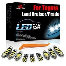 Perfeito canbus veículo interior lâmpada led dome placa interior kit de luz para toyota land cruiser 70 80 100 200 prado 90 120 150 fj