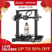 Ender 3 V2 3D Printer Kit Updated Self Developed Silent Mainboard Creality 3D Smart Filament Sensor Resume Printing.
