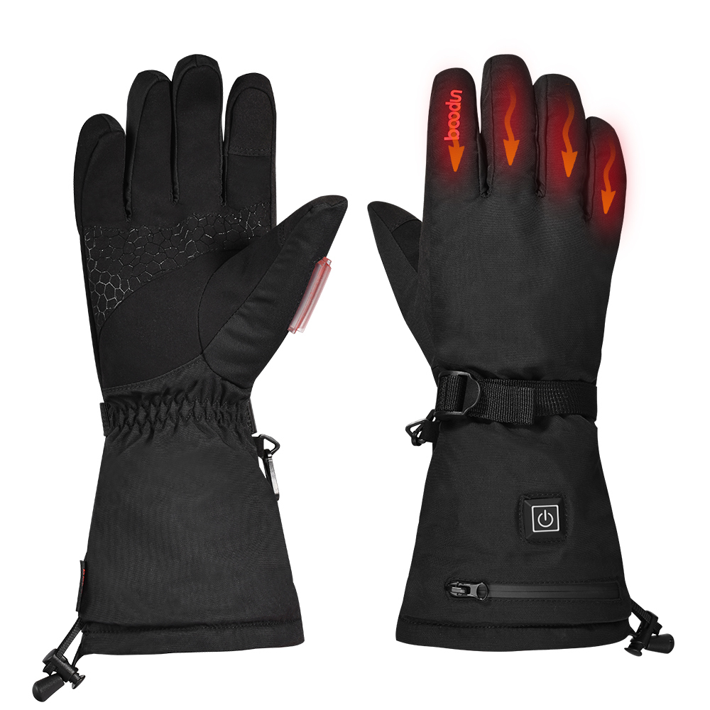 Hot New Electric Heated Gloves With Rechargeable Battery Waterproof Thermal Gloves Winter Warmer Cycling Hiking Skiing Heating G