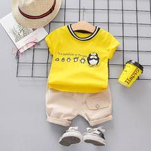 Новая одежда для маленьких мальчиков комплект летней хлопковой