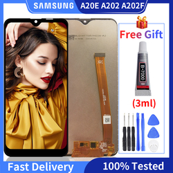 100% Original LCD For SAMSUNG Galaxy A20e A202 SM-A202F A202GN A202S A202Y Display Touch Screen Digitizer For A20e LCD Display