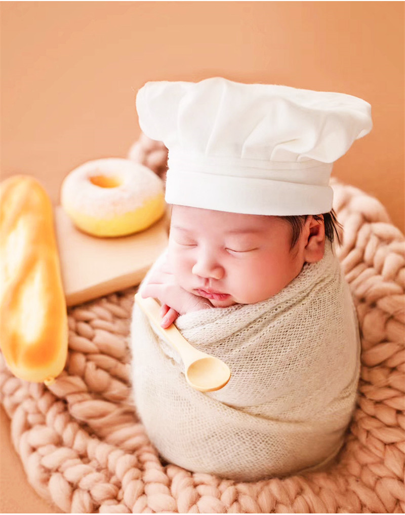 15 days Newborn Shoot Chef Apron Bebe Photo Accessories Set Baby Photogrpahy Props New born Doll