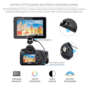 Image 5 - FEELWORLD LUT7S 7 Inch 3G SDI 4KHDMI 2200nits 3D LUT Touch Screen DSLR Camera Field Monitor with Waveform VectorScope Histogram